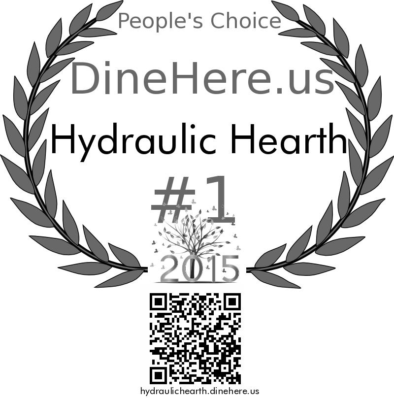 Hydraulic Hearth DineHere.us 2015 Award Winner